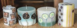 świece mozaikowe